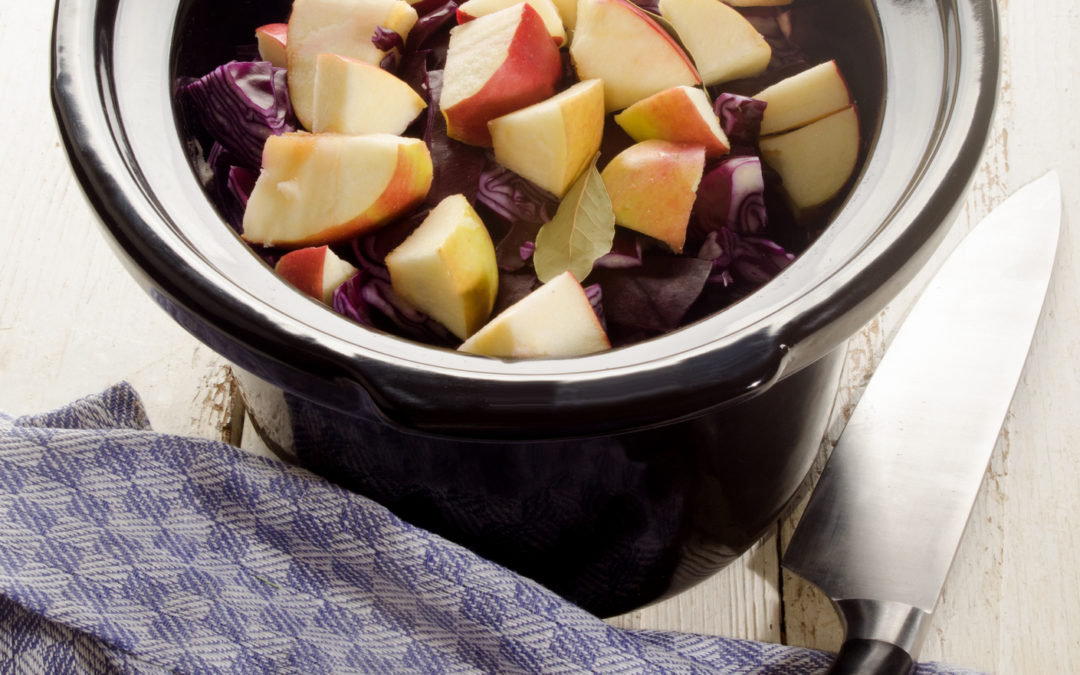 Crockpot Paleo Chicken with Butternut Squash, Pears, and Cranberries