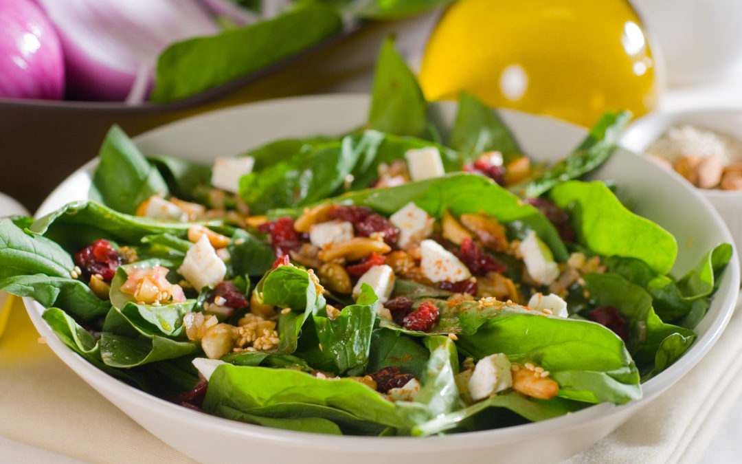 Cranberries with Mixed Greens, Goat Cheese & Toasted Walnuts